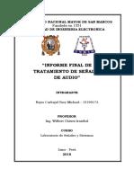 Informe Final de Tratamiento de Señales de Audio
