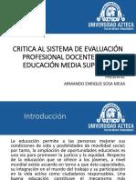 Critica Al Sistema de Evaluación Profesional Docente de La Educación Media Superior