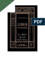 Crowley Aleister - Liber 333 - El Libro De Las Mentiras.rtf