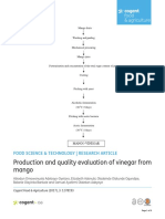 Production and Quality Evaluation of Vinegar From Mango