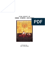 Tom Schulmann - Dead Poets Society Film Script