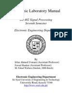 Signal Processing Manual 2009
