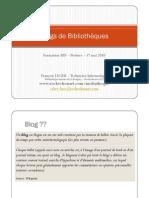 Blogs de médiathèque
