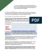 Assesing Maturity Audit