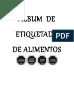 ÁLBUM DE ETIQUETADO DE ALIMENTOS