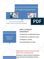 Session 4- Steps of Health Assessment