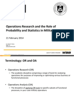 Role of Operations research