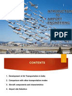 Airport Engineering- 1a-Introduction to Airports, Aircrafts Components and Characteristics