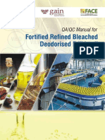QA QC Manual for Fortified Refined Bleached Deodorised Edible Oil