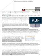 Radiologist Productivity Benchmarks_ Slacker or Slave_ - Axis Imaging News