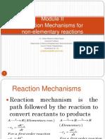 2_Reaction Mechanisms for Non-Elementary Reactions