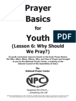 Prayer Basics Youth Lesson 6