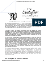 Charles C. Petersen, Strategikon - A Forgotten Military Classic