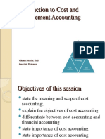 Cost and Management Accounting Intro Class 1