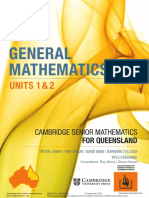 General Mathematics Units 1&2 Cambridge Senior Mathematics for Queensland