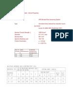 12.7mm Strand Properties for 12 & 19 Strands