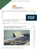 """Carnaval de Matemáticas – Resumen de La Edición 9.4_ """"Regla y Compás"""" _ Gaussianos"""