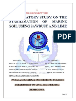 A Laboratory Study on the Stabilization of Marine Clayusing Saw Dust and Lime