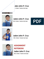 Jaden, Notebook Labels