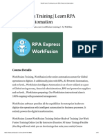 WorkFusion Training _ Learn RPA Powered Automation