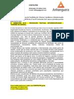 8° SEMESTRE 2019 - PRODUÇÃO TEXTUAL INTERDISCIPLINAR - TURISMO NO BRASIL.