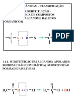 Química PPT - Reações Orgânicas - Classificação