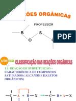 Química PPT - Reações Orgânicas II