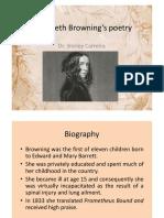 Elizabeth Browning's poetry