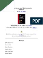 Microeconomics and Macroeconomics Lecture Notes