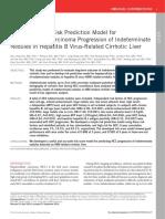 Development of Risk Prediction Model For