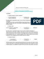 INDICADORES FINANCIEROS 2015