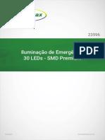 Iluminação de Emergência 30 LEDs - SMD Premium - Segurimax