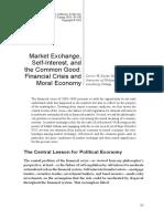 BELOUSEK, Darrin. Market Exchange, Self-Interest, And the Common Good