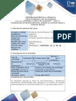 Guía de Actividades y Rubrica de Evaluación -Tarea 2 - Fundamentos de Semiconductores, Análisis en Corriente Altera y Corriente Directa