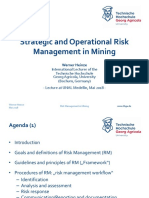 STRATEGIC AND OPERATIONAL RISK MANAGEMENT IN MINING