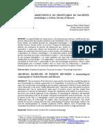 Tratamento Arquivístico Do Protuário Do Paciente - Um Contraponto a Galvão, Ferreira e Ricarte