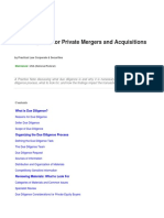 Due Diligence for Private Mergers and Acquisitions