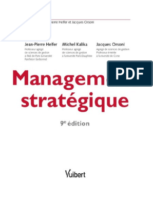 Management Strategique Tout Le Cours Des Mini Cas Pdf Mondialisation Affaires