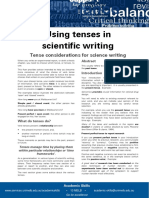 Using Tenses in Scientific Writing Update 051112