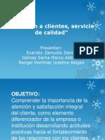 Atención a clientes, servicio de calidad