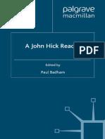 Paul Badham, 1990. A John Hick Reader