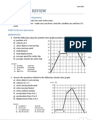 SPH3UExamReview pdf | Velocity | Force