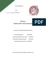 TRIANGULACIÓN Y TRAZO DE UNA BASE, PRACTICA DE CAMPO V, TOPOGRAFIA II.docx