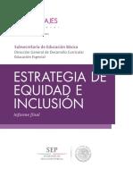 INFORME FINAL DE ESTRATEGIA DE EQUIDAD E INCLUSIÓN