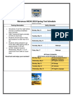 spring test schedule 2019
