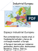 Geografia PPT - Espaço Industrial Europeu