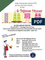 pajamas and pancakes dinner 2