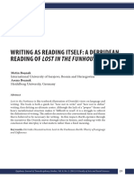 Writing as Reading Itself a Derridean Reading of L