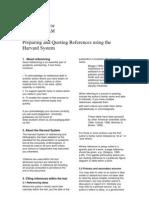 Harvard Referencing 2008