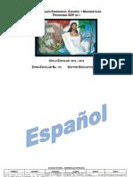 Español y Matematicas Aprendizajes Esperados